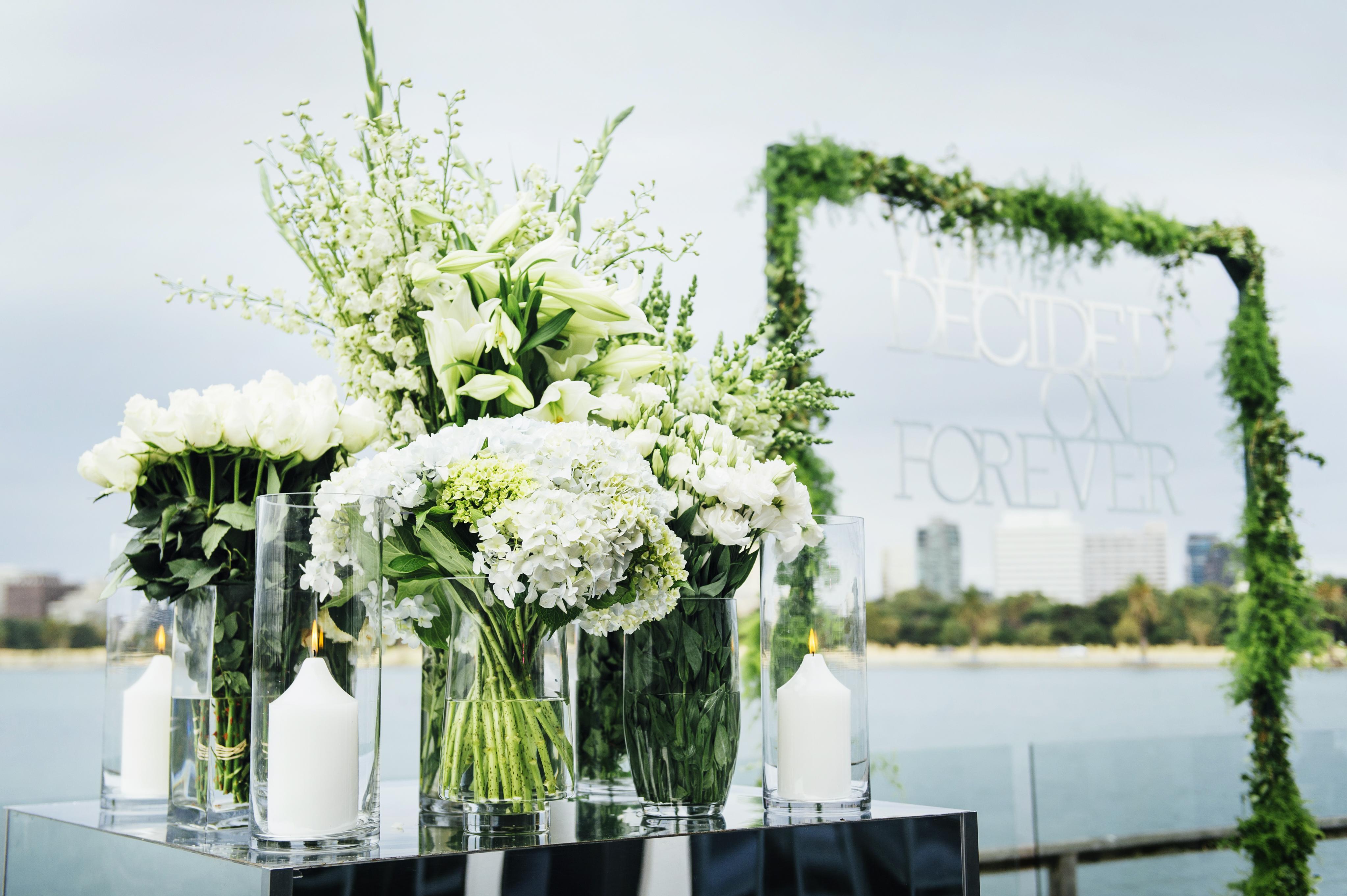 wedding settng