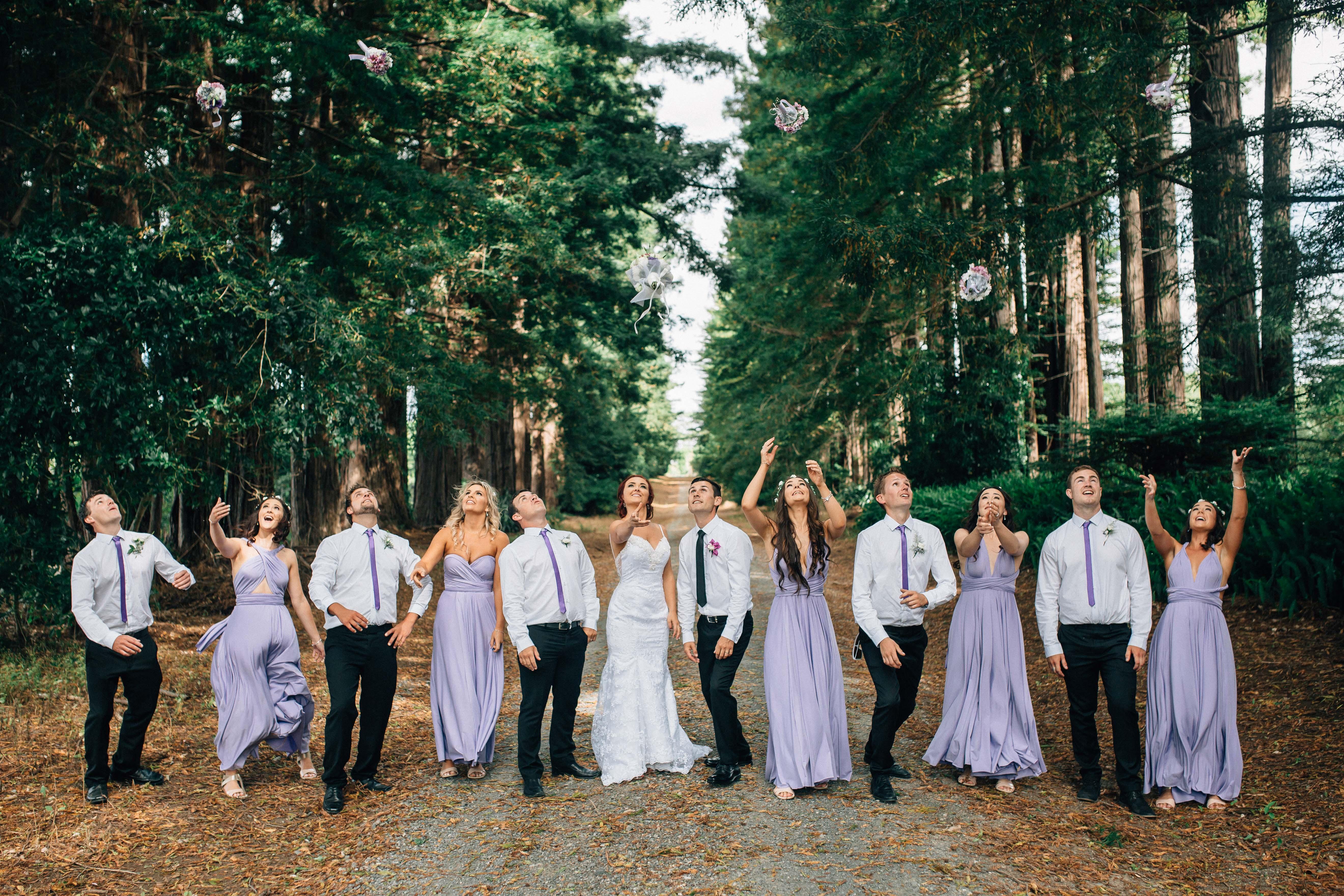 Garden wedding- Bridal party