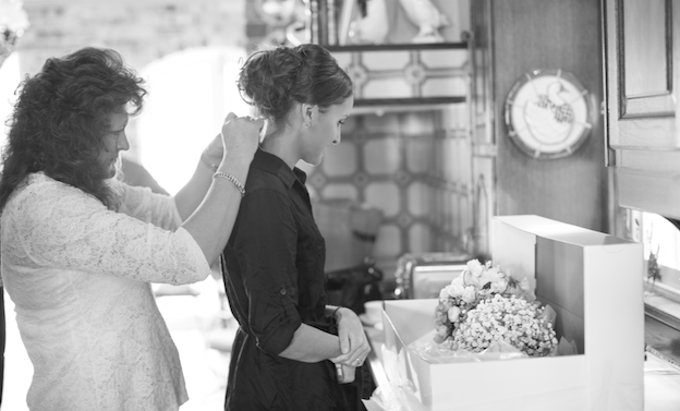 Black and white DIY wedding photos
