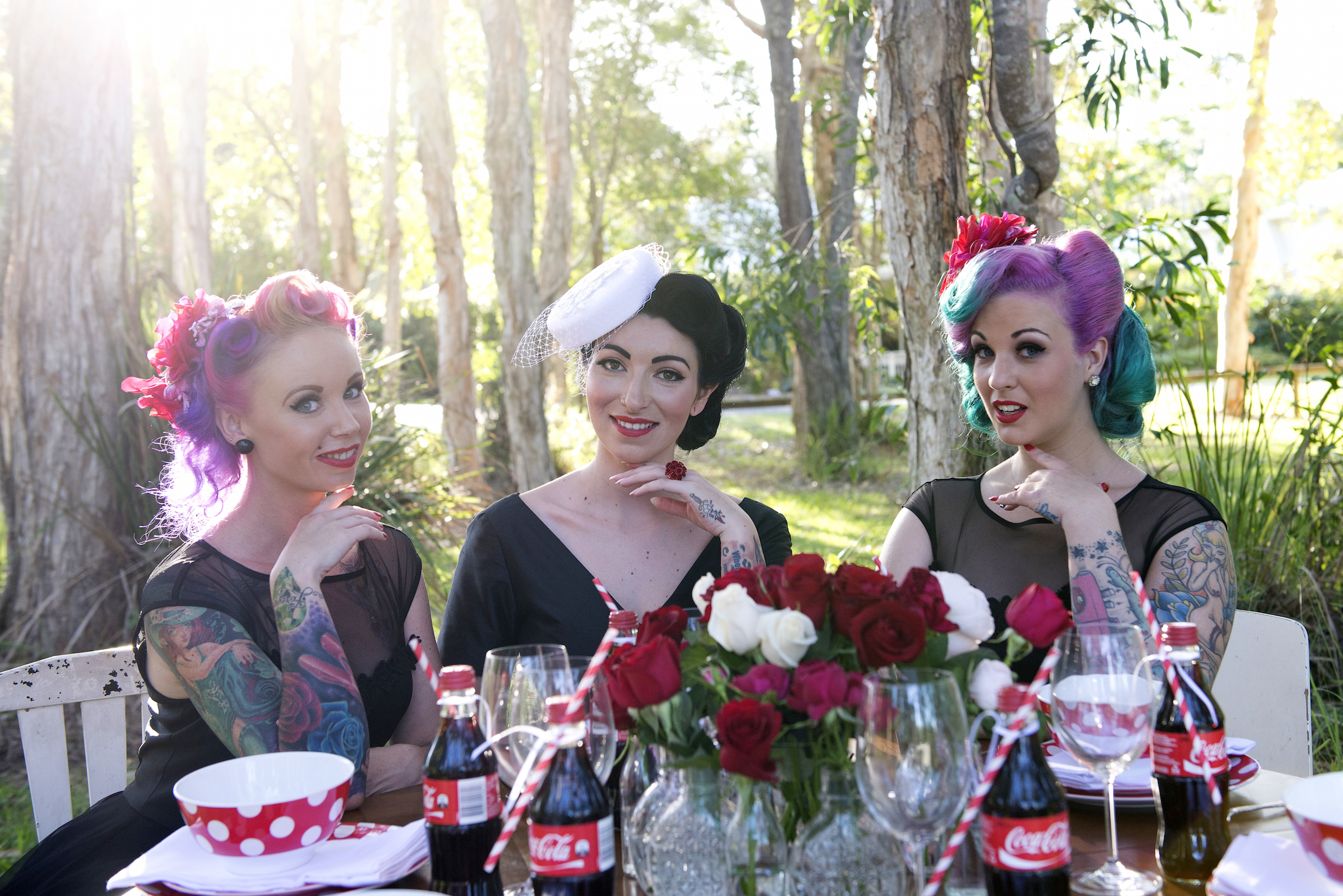 Vintage fashion inspired Bridal Party