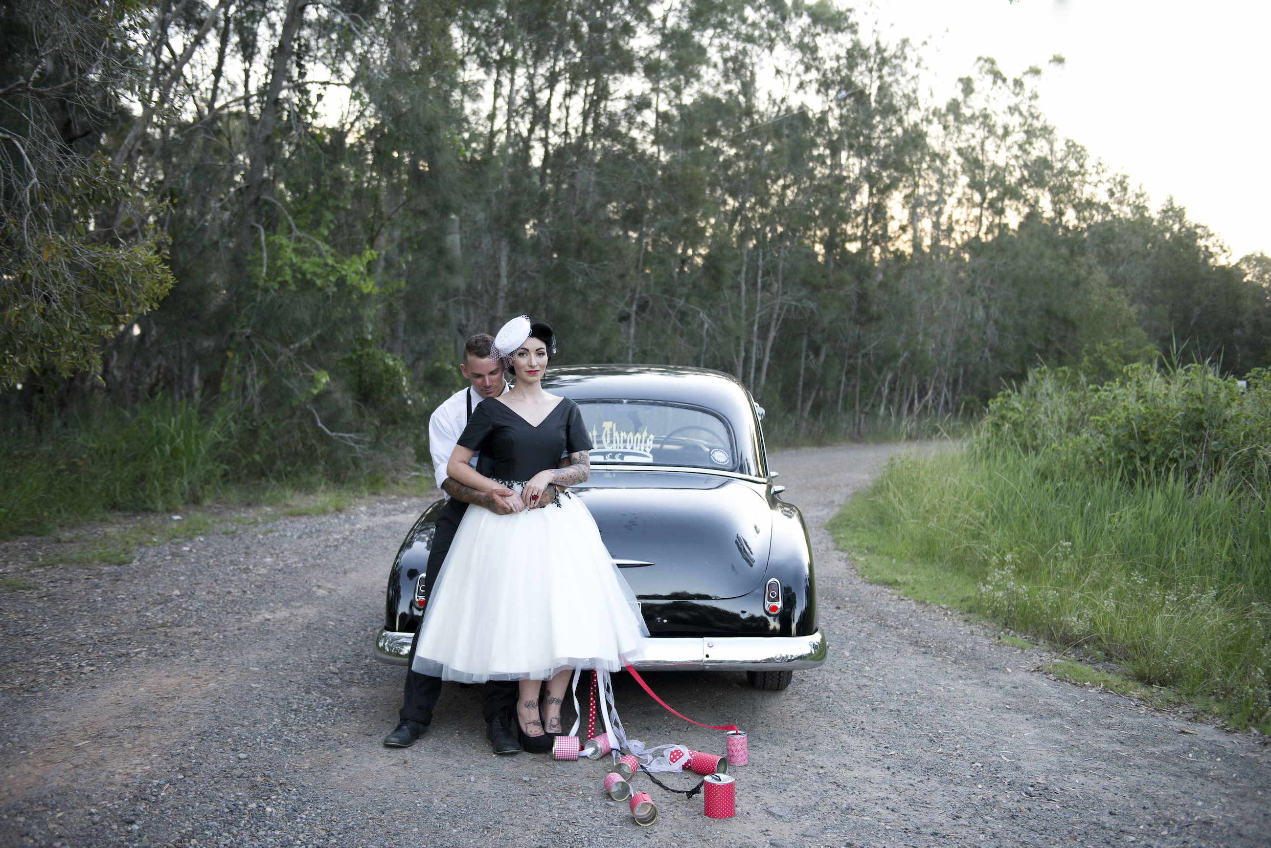 Vintage fashion inspired Bride and Groom