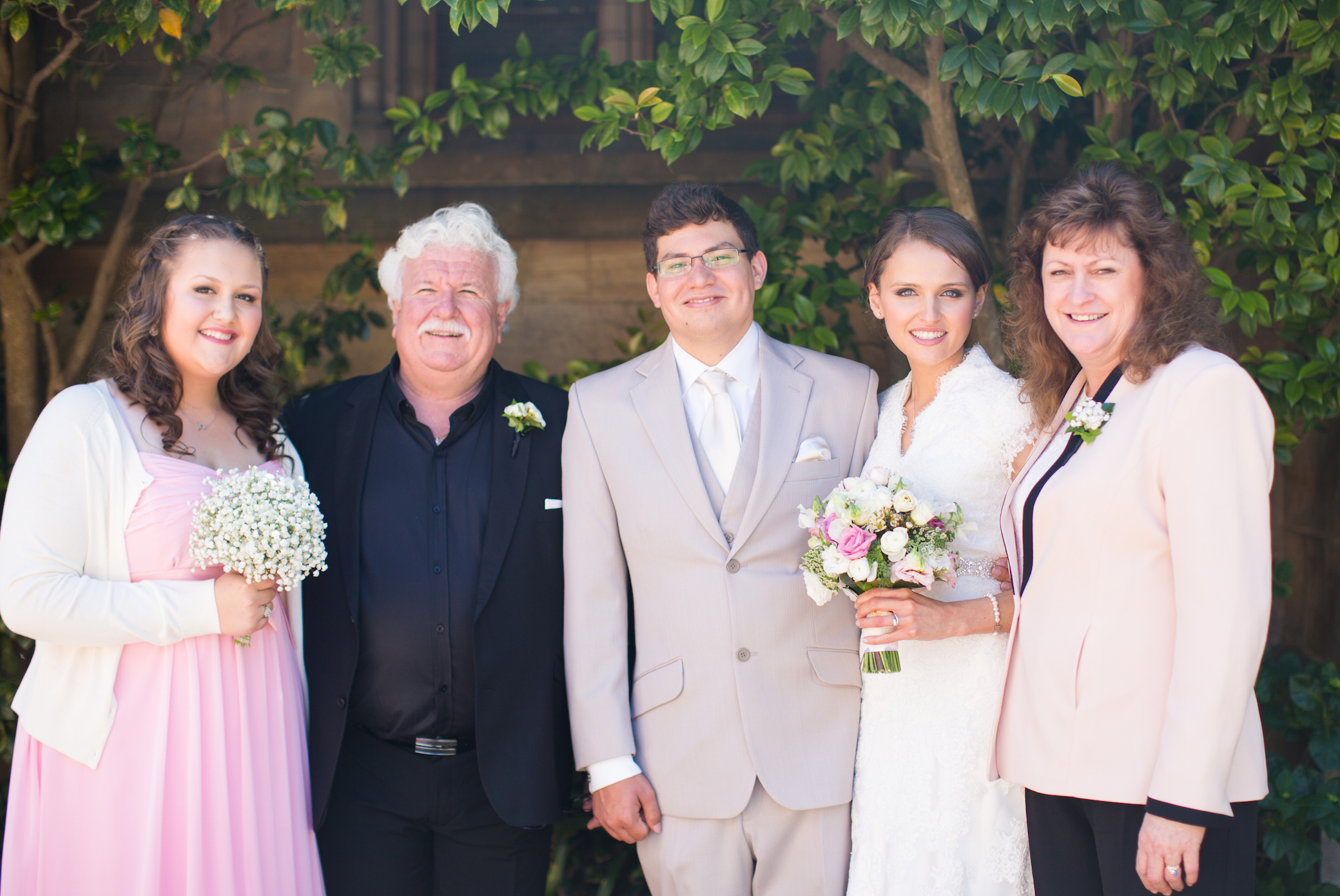 Family at DIY Wedding