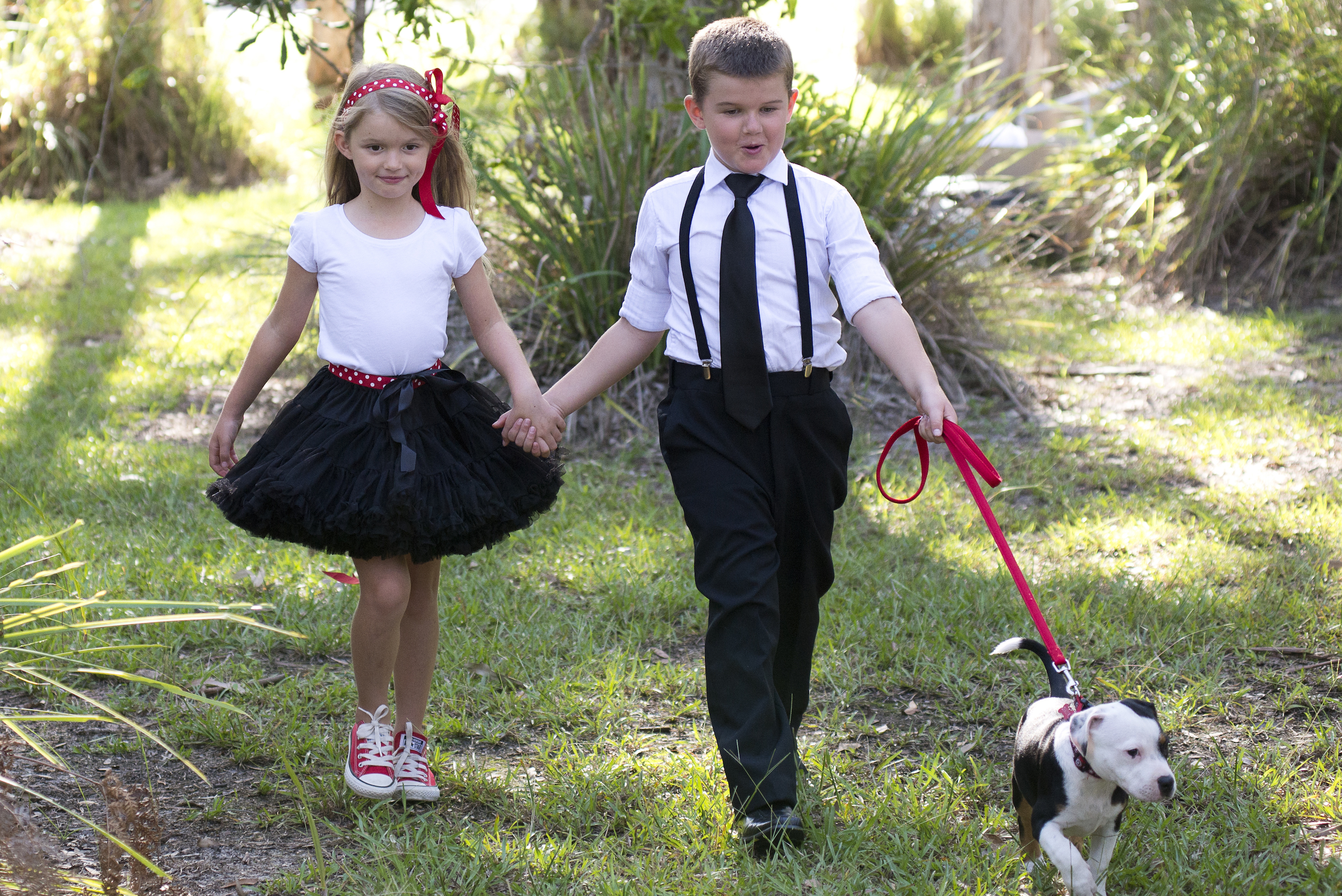 Flower girl and Page Boy Vintage fashion inspired