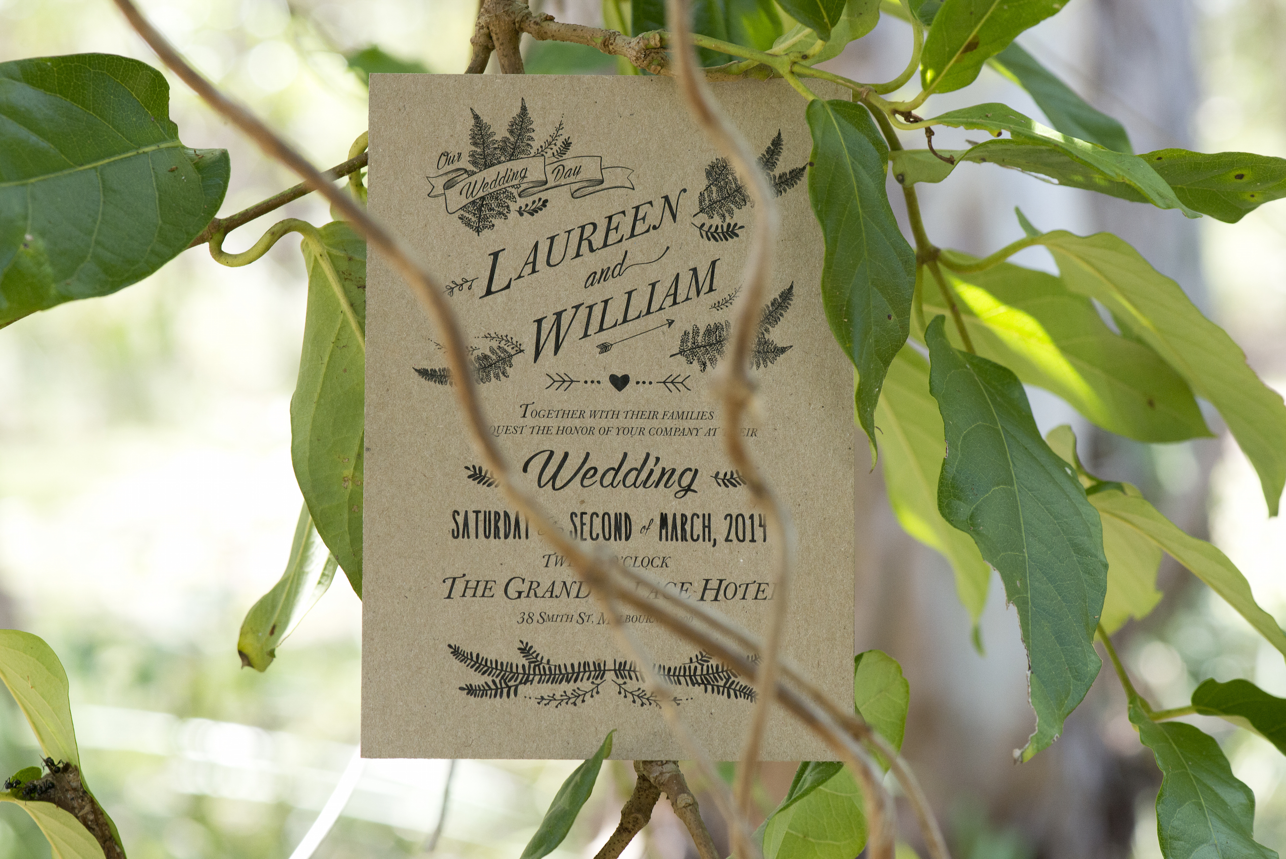 Vintage fashion inspired wedding invite