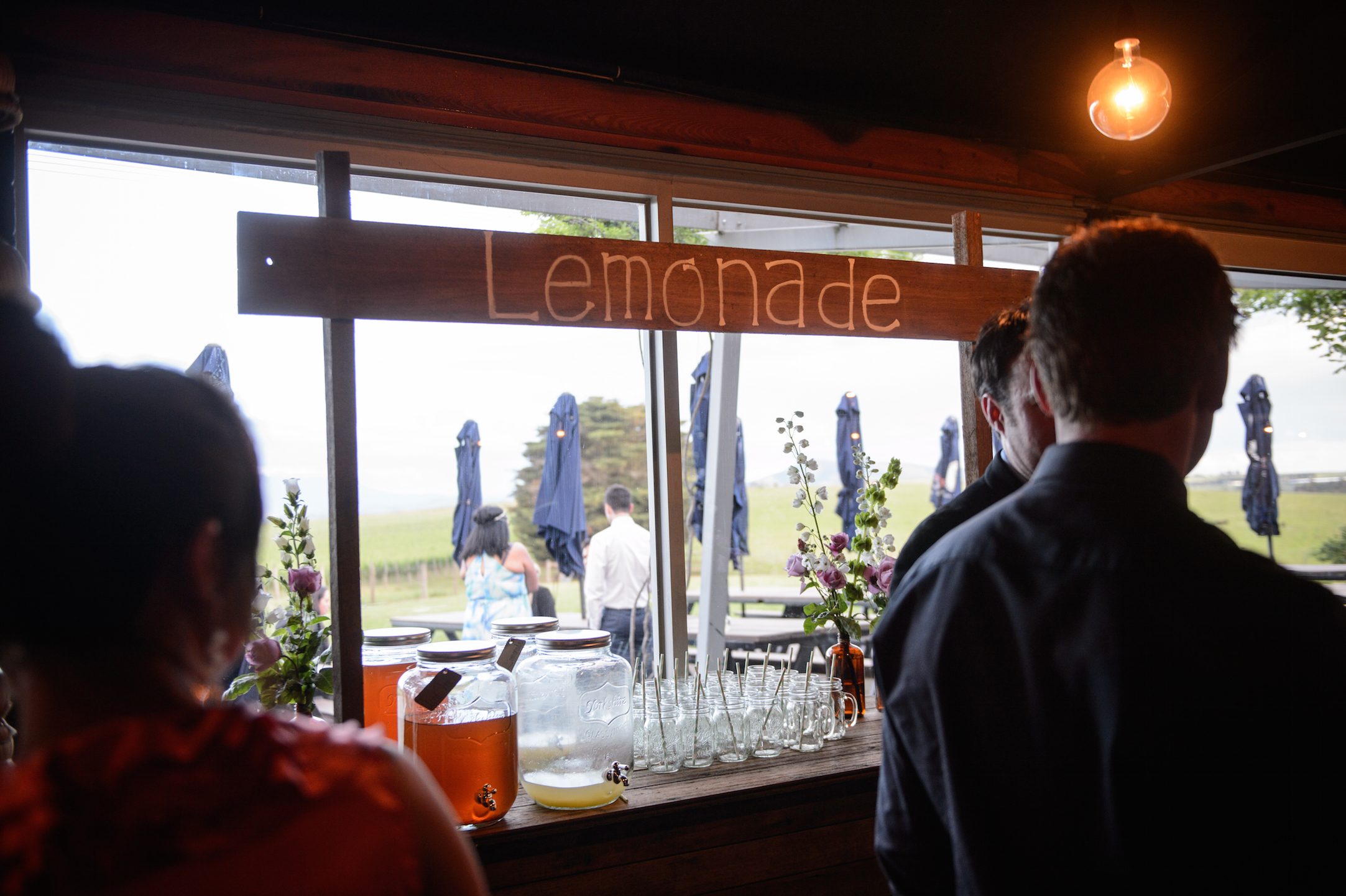 Country Wedding with Lemonade Stand